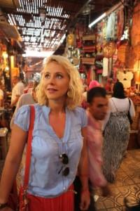 Nina Heinemann im Souk