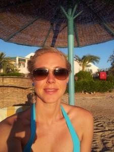 Nina Heinemann im Urlaub