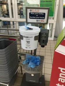 Praktisch und nützlich: Desinfektionstücher im Supermarkt