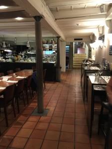 Der eher rustikale untere Teil des Restaurants.